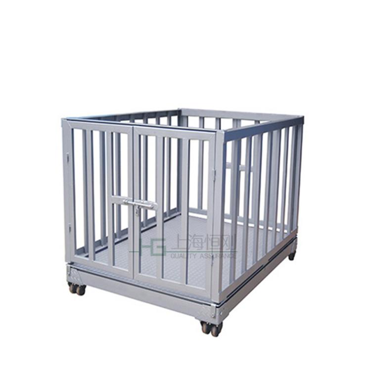 带围栏高精度牲畜秤,不锈钢防水动物秤